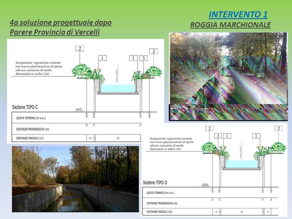 INTERVENTO 1 4a soluzione progettuale dopo Parere Provincia di Vercelli ROGGIA MARCHIONALE