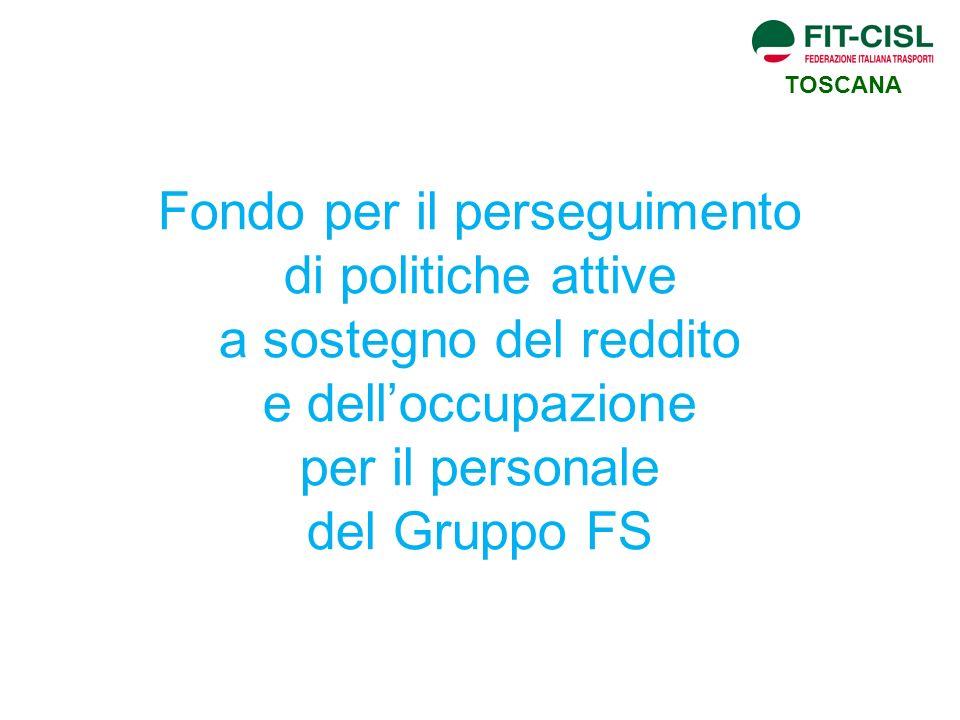 TOSCANA Fondo per il perseguimento di politiche attive a sostegno del reddito e dell'occupazione per il personale del Gruppo FS.