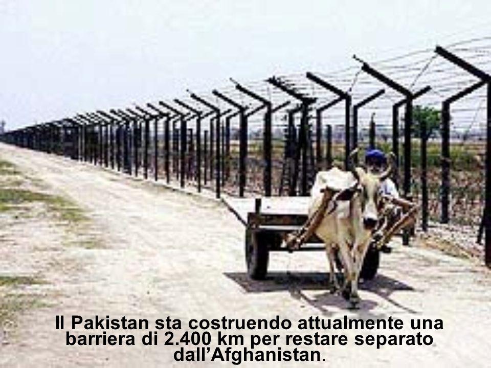 Il Pakistan sta costruendo attualmente una barriera di 2