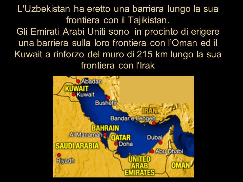 L Uzbekistan ha eretto una barriera lungo la sua frontiera con il Tajikistan.