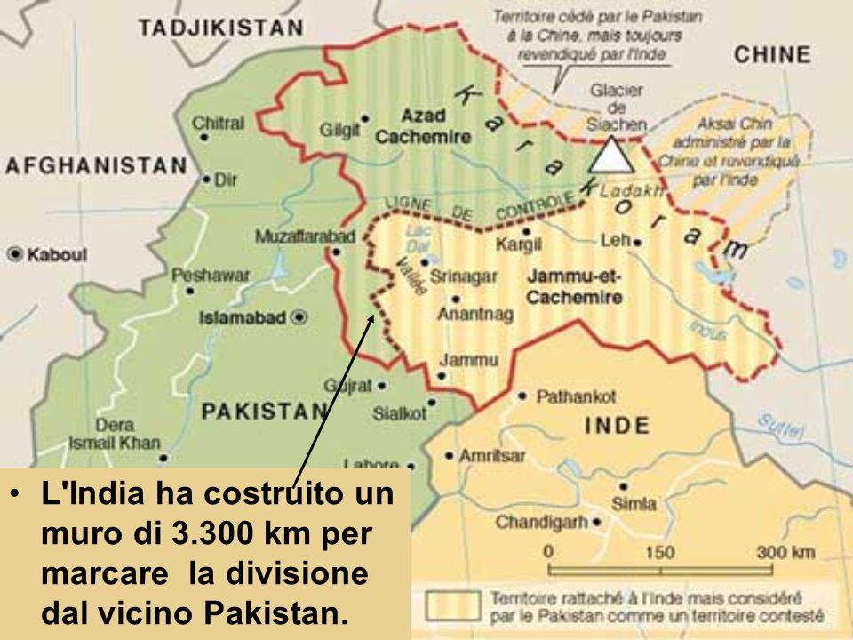 L India ha costruito un muro di 3