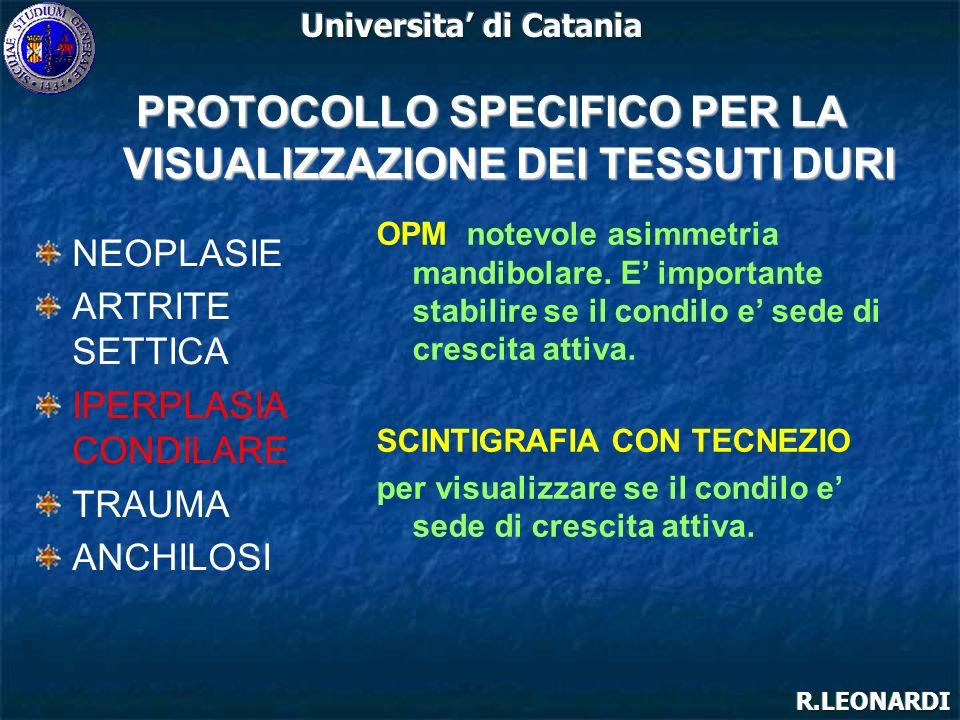 PROTOCOLLO SPECIFICO PER LA VISUALIZZAZIONE DEI TESSUTI DURI
