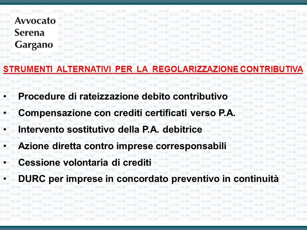 Procedure di rateizzazione debito contributivo