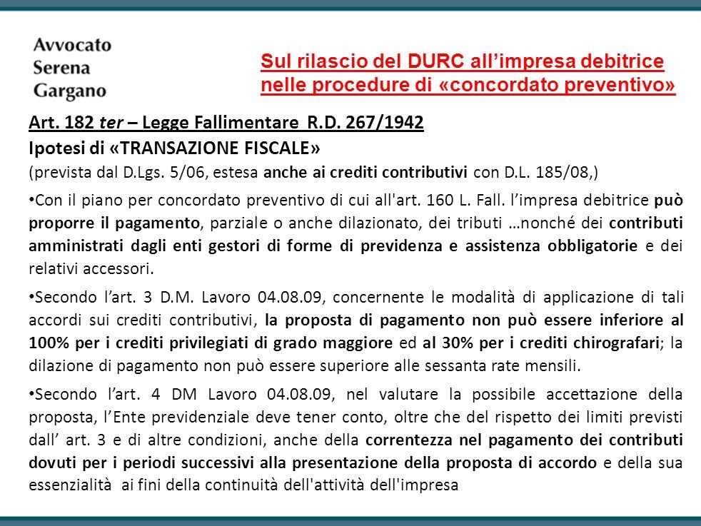 Sul rilascio del DURC all'impresa debitrice