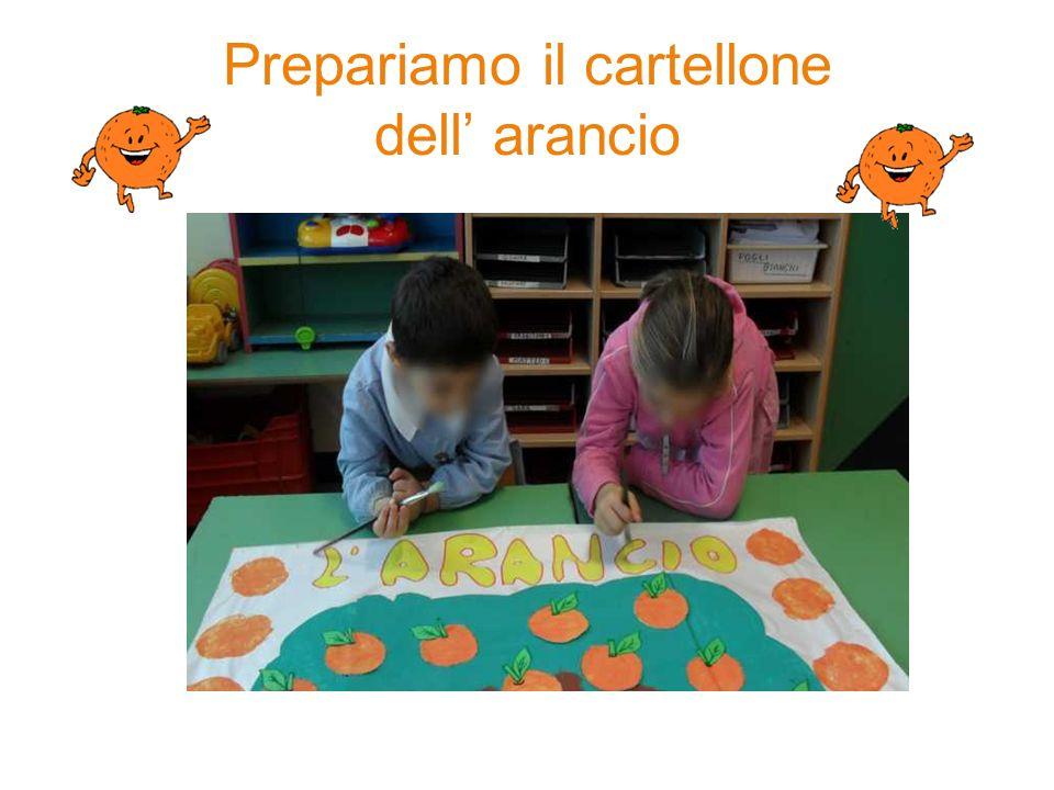 Prepariamo il cartellone dell' arancio