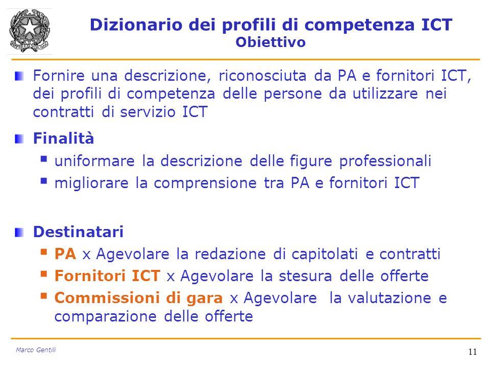 Dizionario dei profili di competenza ICT Obiettivo
