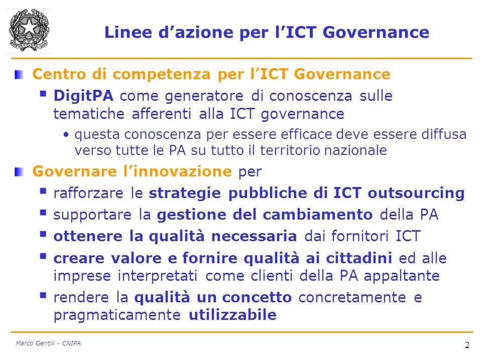 Linee d'azione per l'ICT Governance