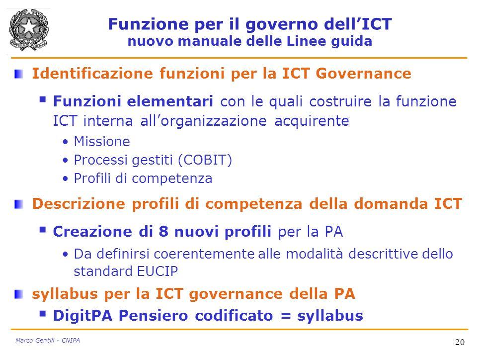 Funzione per il governo dell'ICT nuovo manuale delle Linee guida