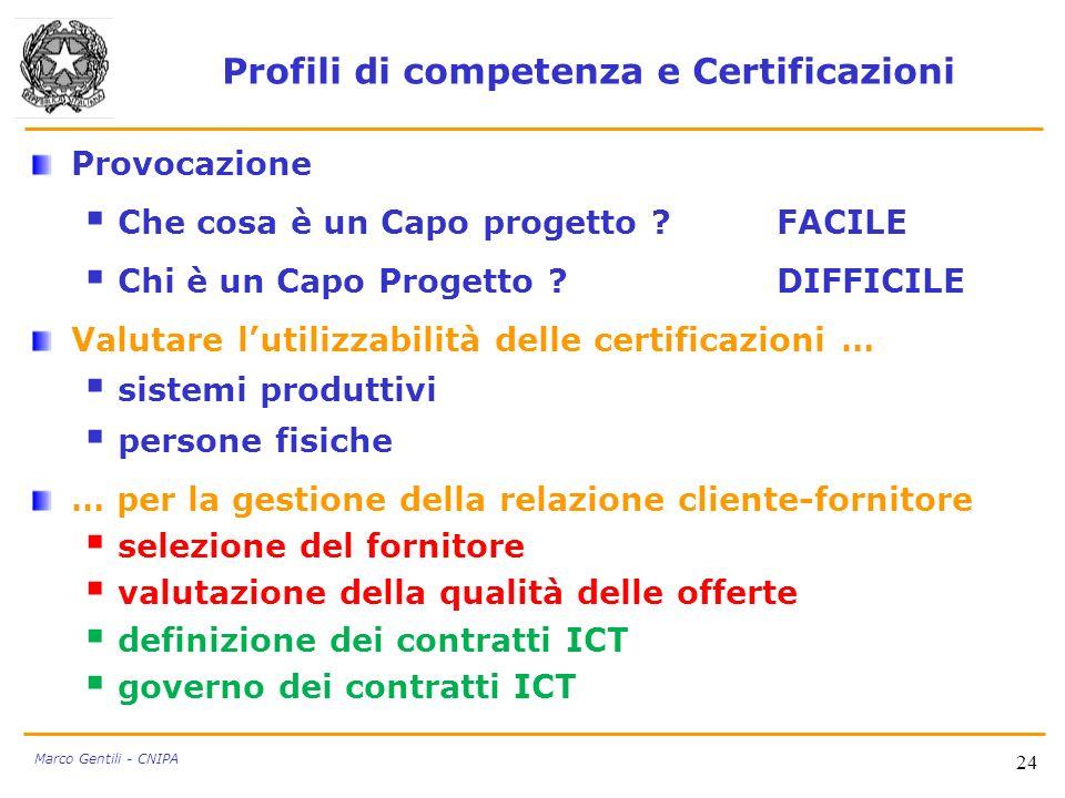 Profili di competenza e Certificazioni