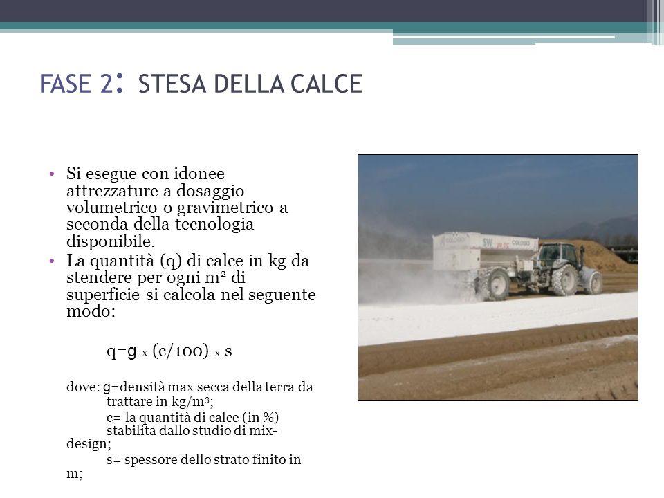 FASE 2: STESA DELLA CALCE