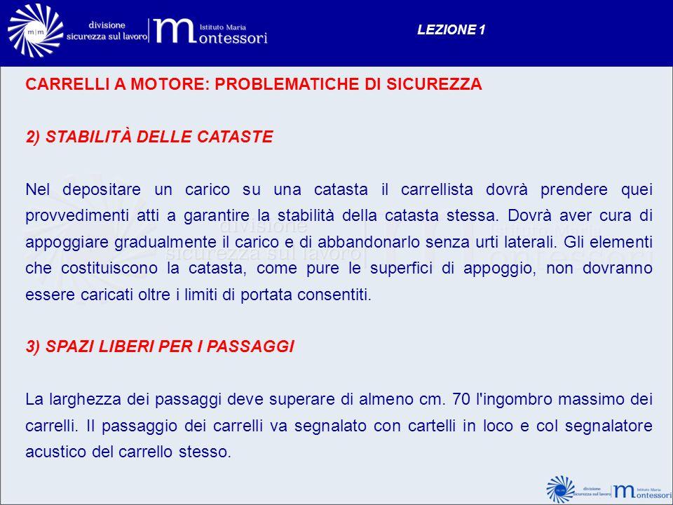 CARRELLI A MOTORE: PROBLEMATICHE DI SICUREZZA