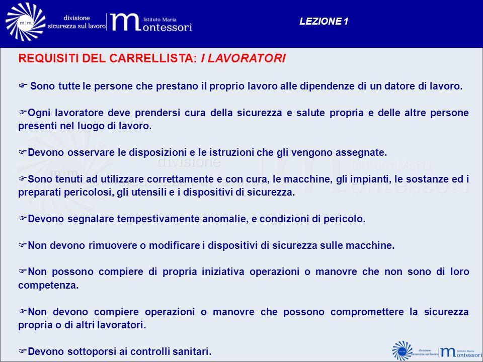 REQUISITI DEL CARRELLISTA: I LAVORATORI