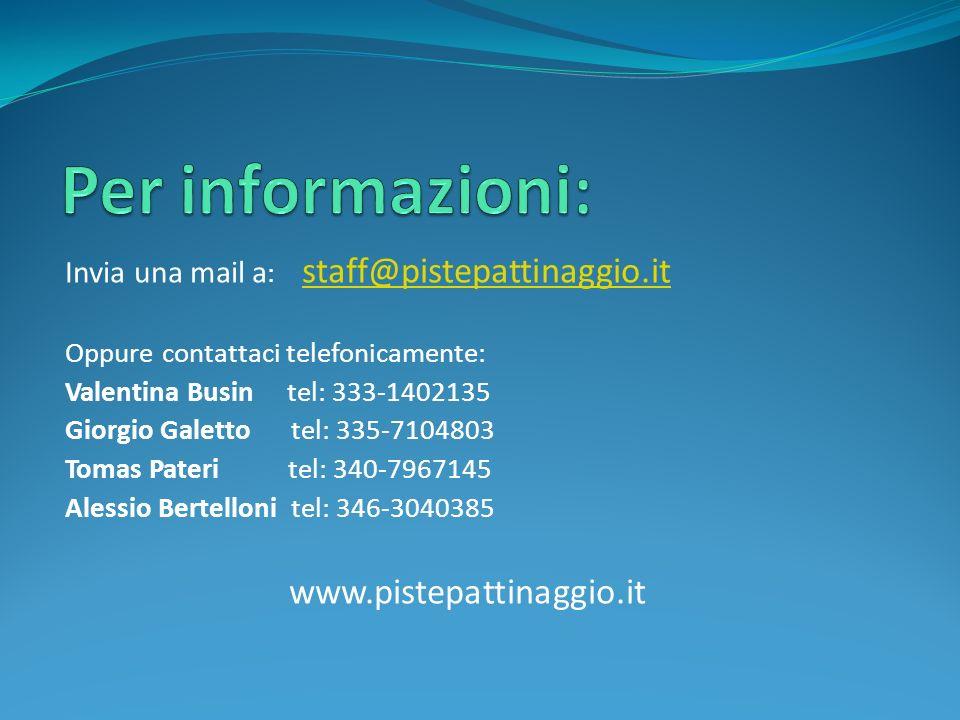 Per informazioni: www.pistepattinaggio.it