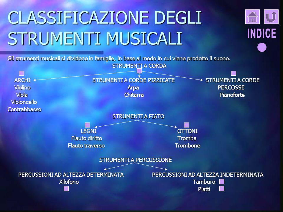 CLASSIFICAZIONE DEGLI STRUMENTI MUSICALI