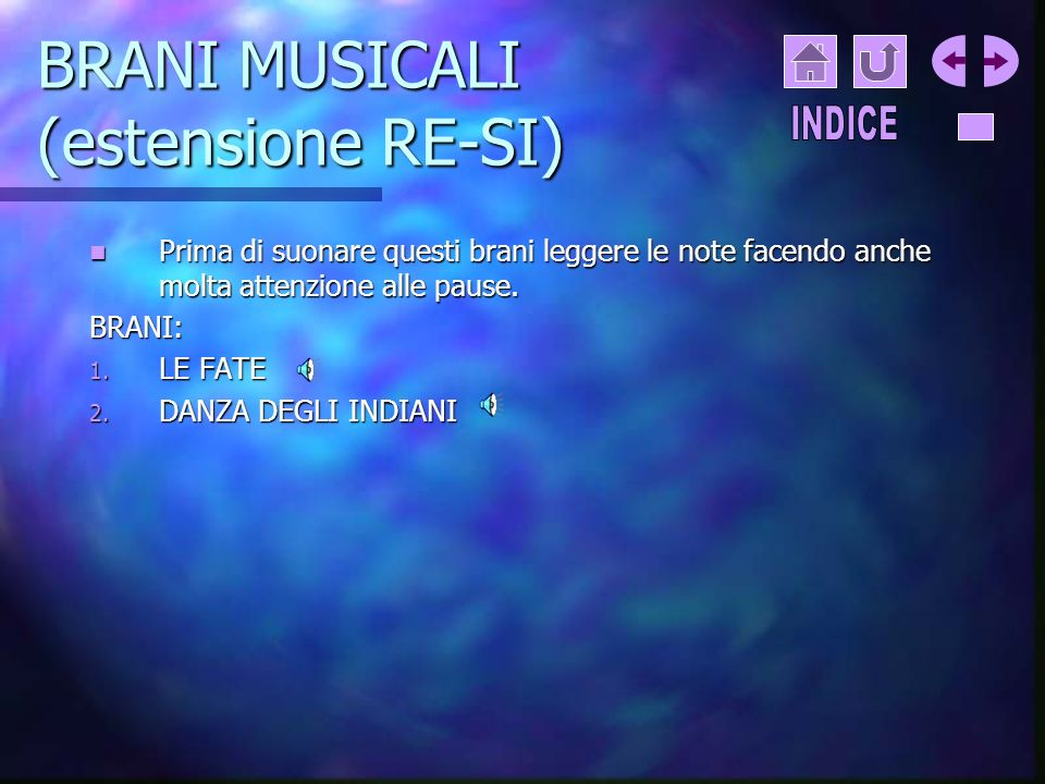 BRANI MUSICALI (estensione RE-SI)