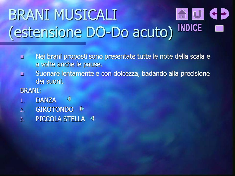 BRANI MUSICALI (estensione DO-Do acuto)