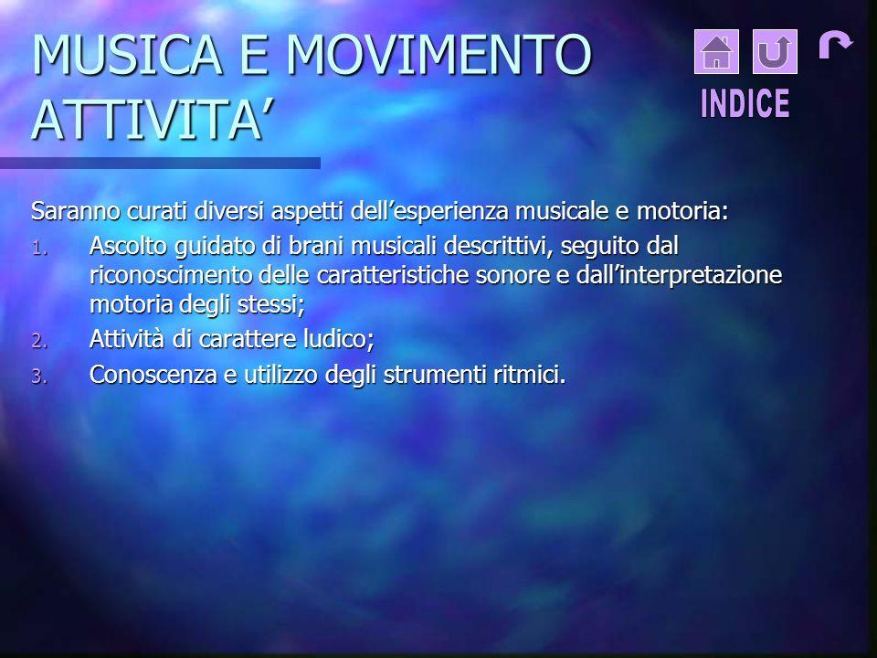MUSICA E MOVIMENTO ATTIVITA'
