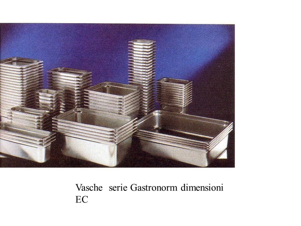 Vasche serie Gastronorm dimensioni EC