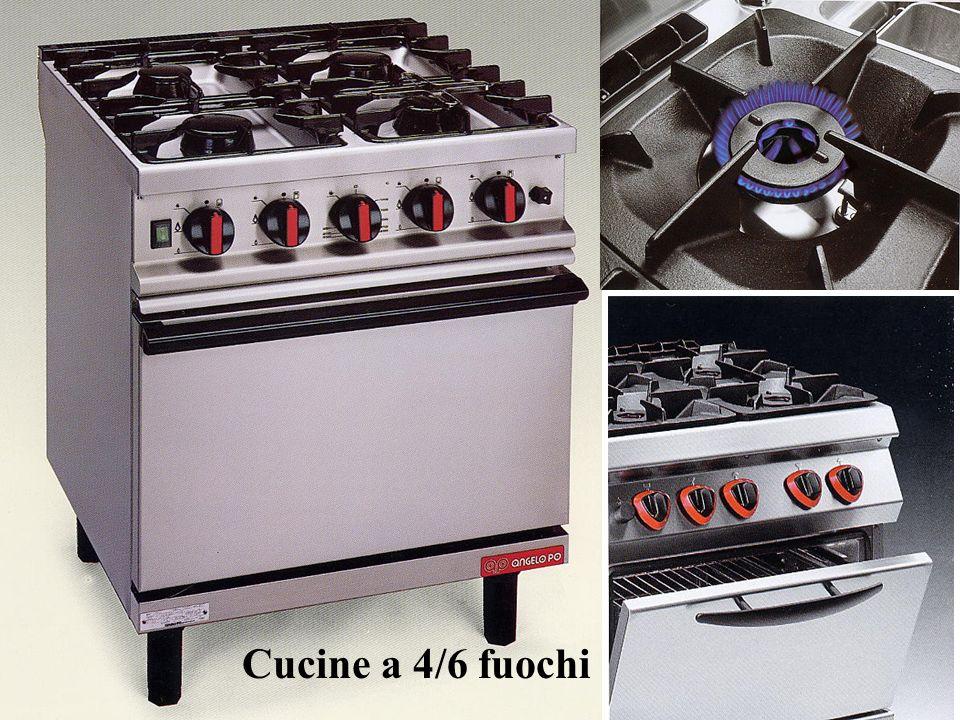 Cucine a 4/6 fuochi