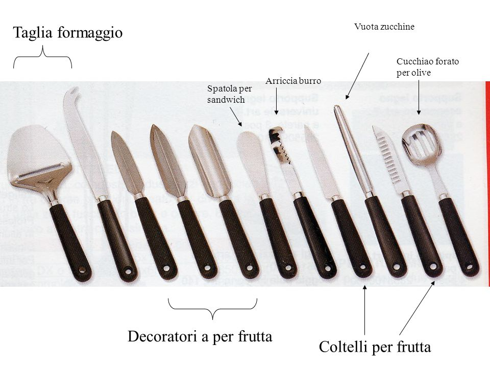 Decoratori a per frutta Coltelli per frutta