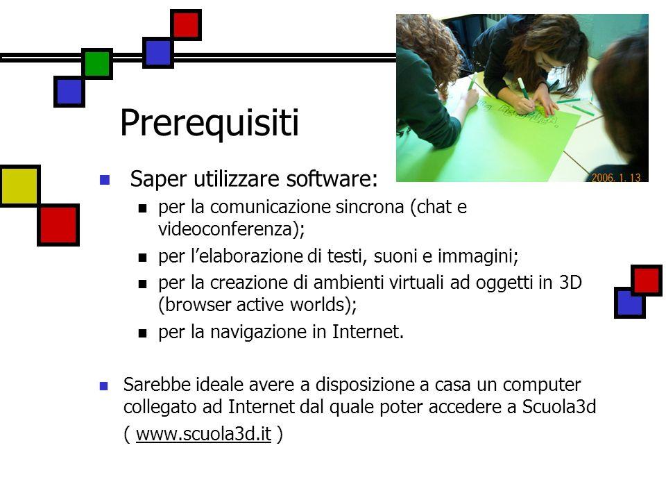 Prerequisiti Saper utilizzare software: