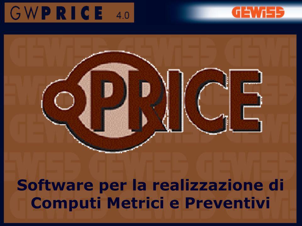 Software per la realizzazione di Computi Metrici e Preventivi