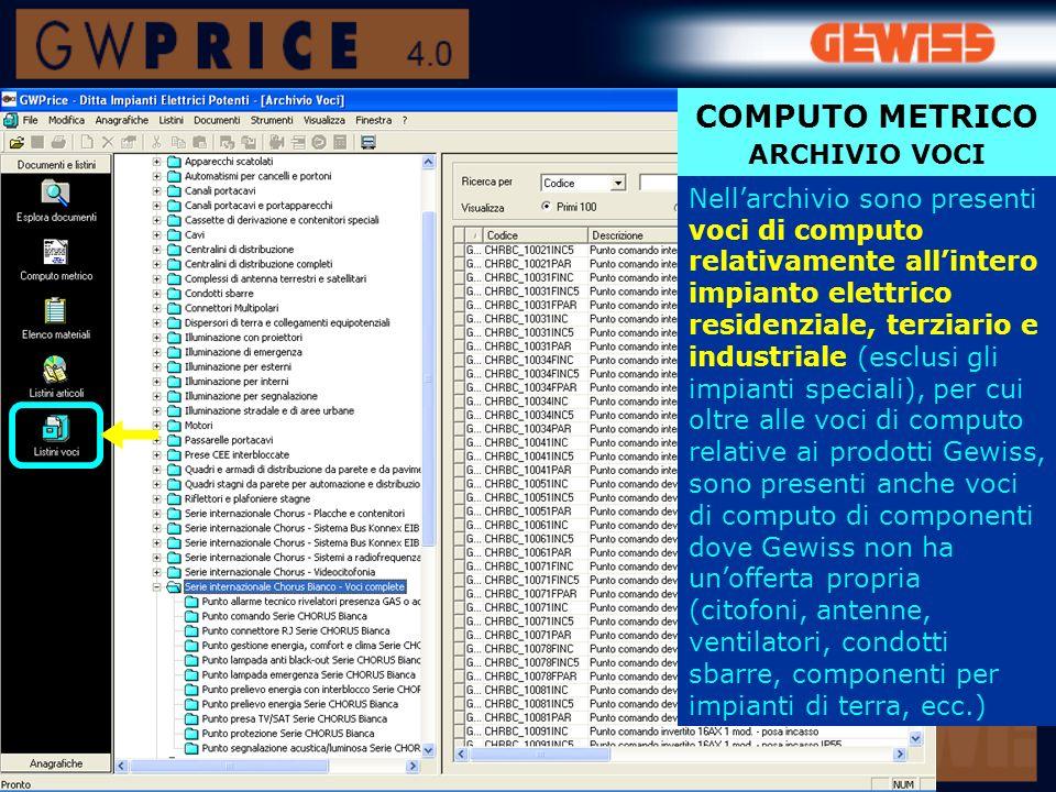 COMPUTO METRICO ARCHIVIO VOCI
