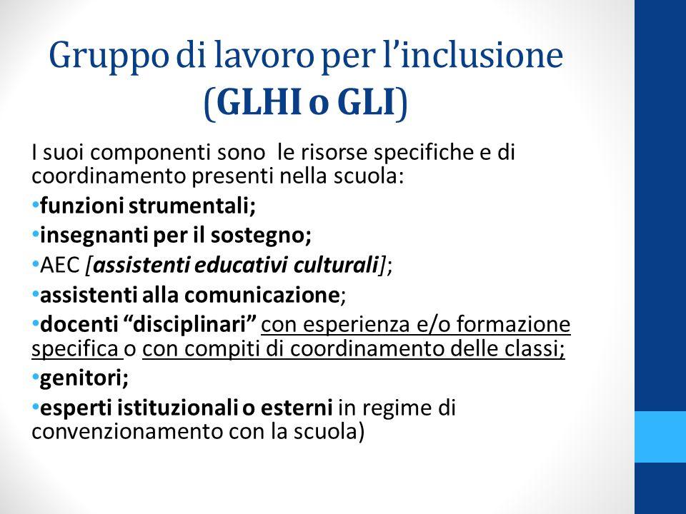 Gruppo di lavoro per l'inclusione (GLHI o GLI)
