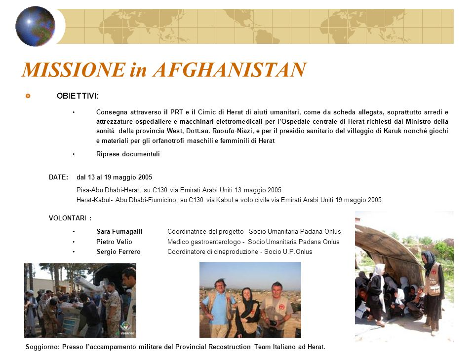 MISSIONE in AFGHANISTAN