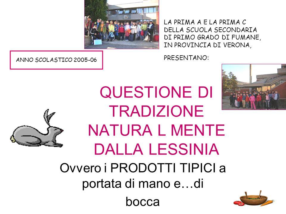 QUESTIONE DI TRADIZIONE NATURA L MENTE DALLA LESSINIA