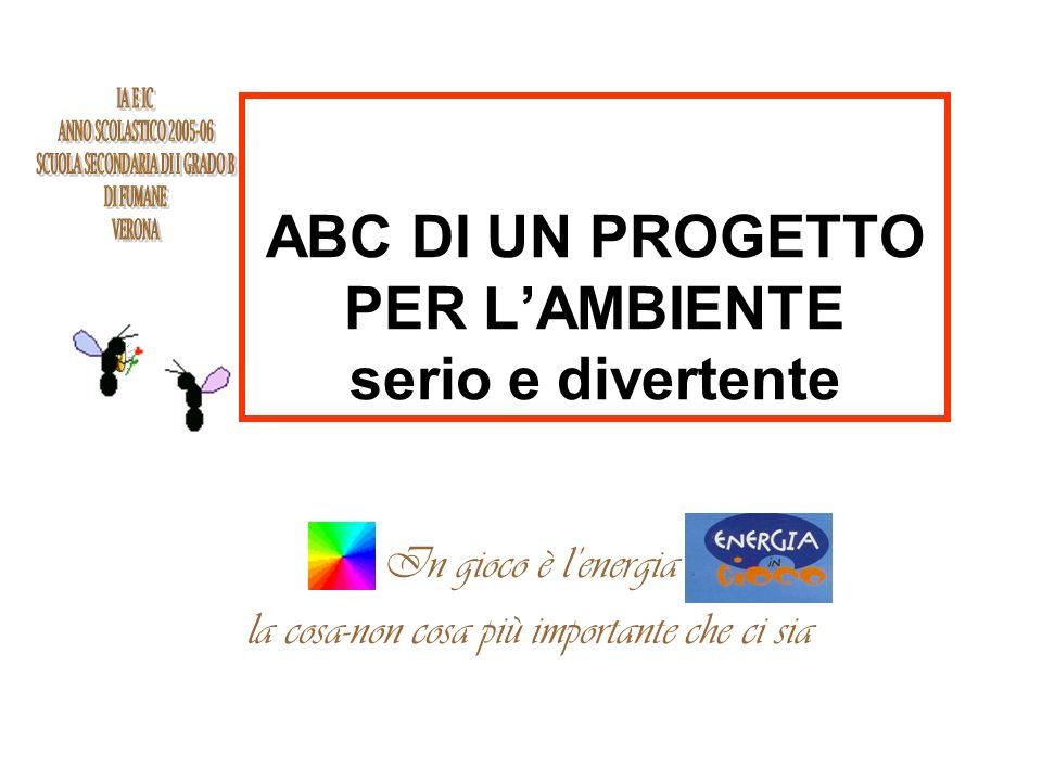 ABC DI UN PROGETTO PER L'AMBIENTE serio e divertente