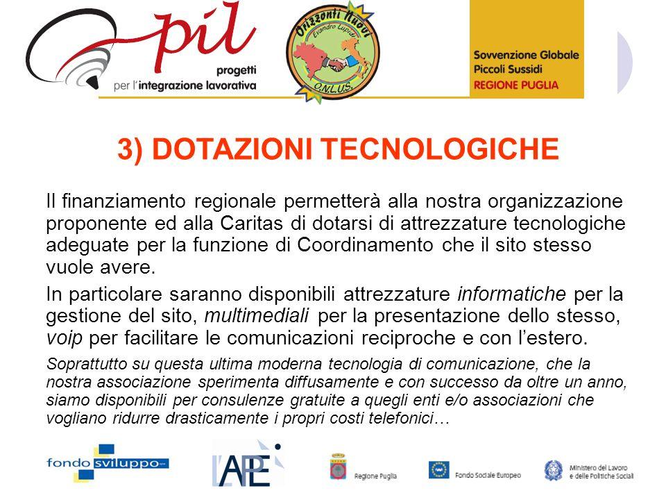 3) DOTAZIONI TECNOLOGICHE