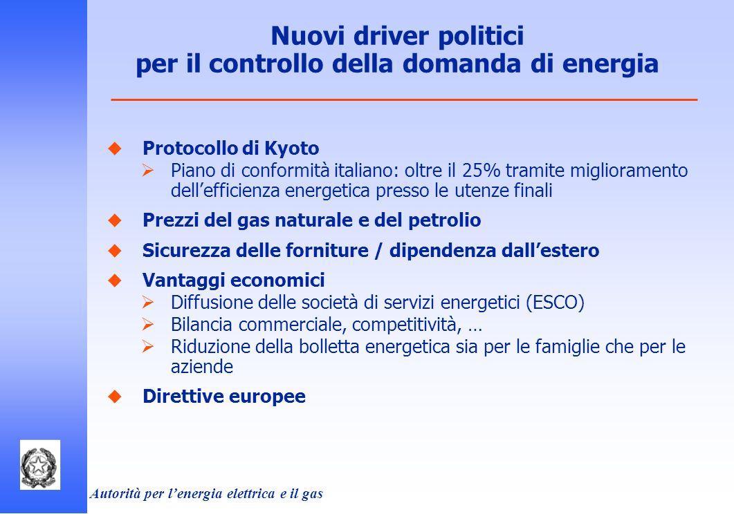 Nuovi driver politici per il controllo della domanda di energia