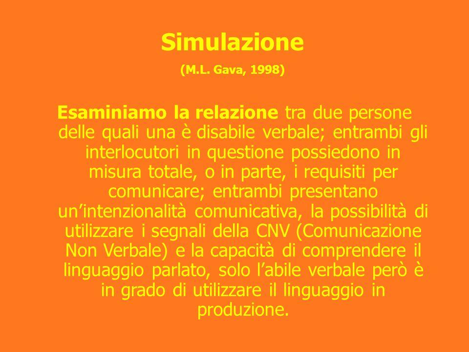 Simulazione (M.L. Gava, 1998)