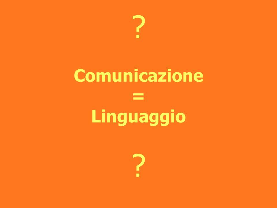 Comunicazione = Linguaggio