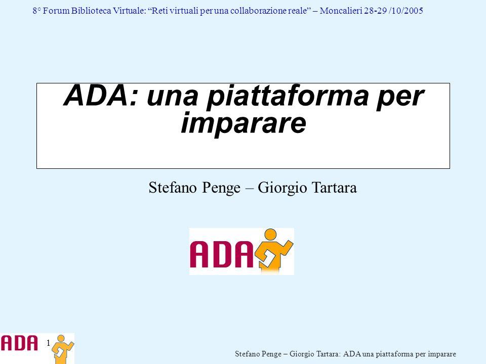 ADA: una piattaforma per imparare