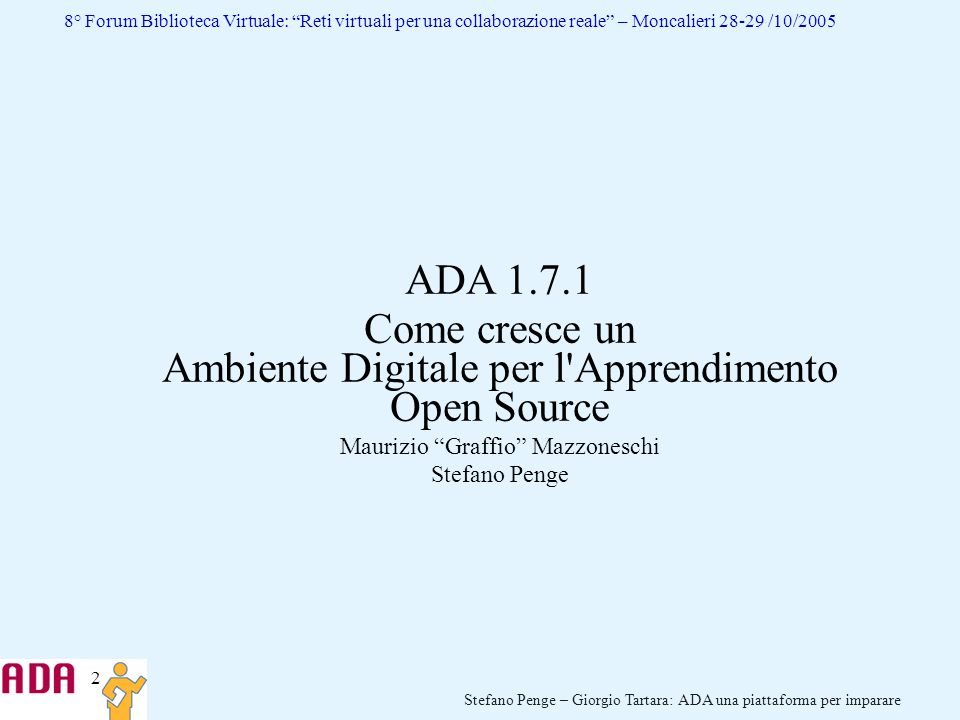 Come cresce un Ambiente Digitale per l Apprendimento Open Source