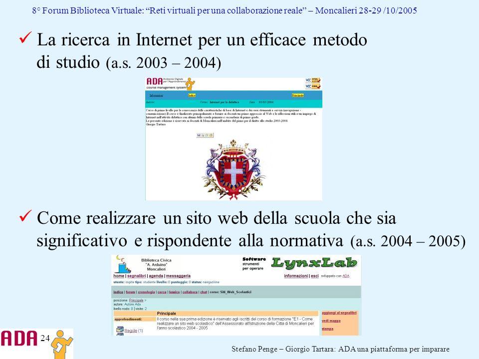 La ricerca in Internet per un efficace metodo di studio (a. s
