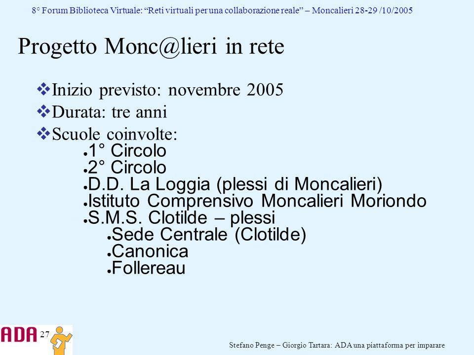 Progetto Monc@lieri in rete
