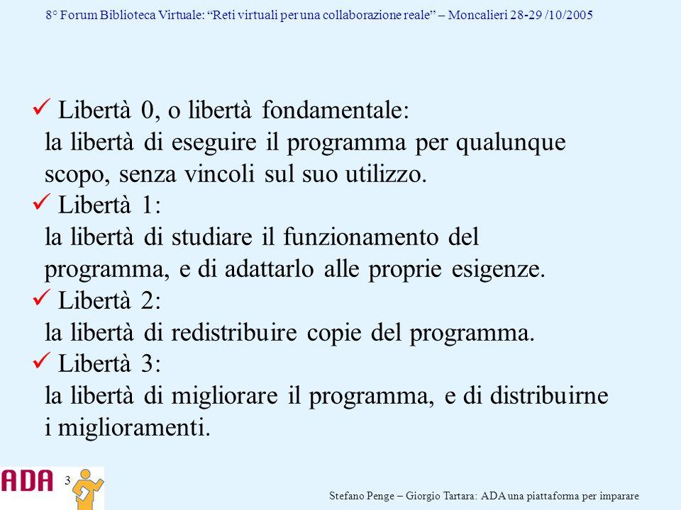Libertà 0, o libertà fondamentale: la libertà di eseguire il programma per qualunque scopo, senza vincoli sul suo utilizzo.