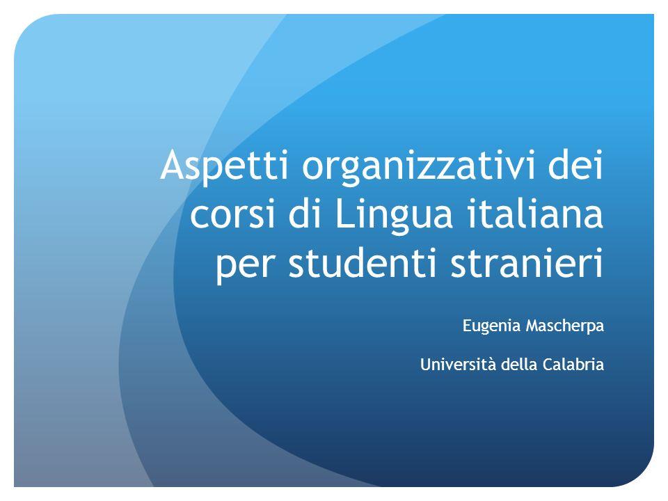 Eugenia Mascherpa Università della Calabria
