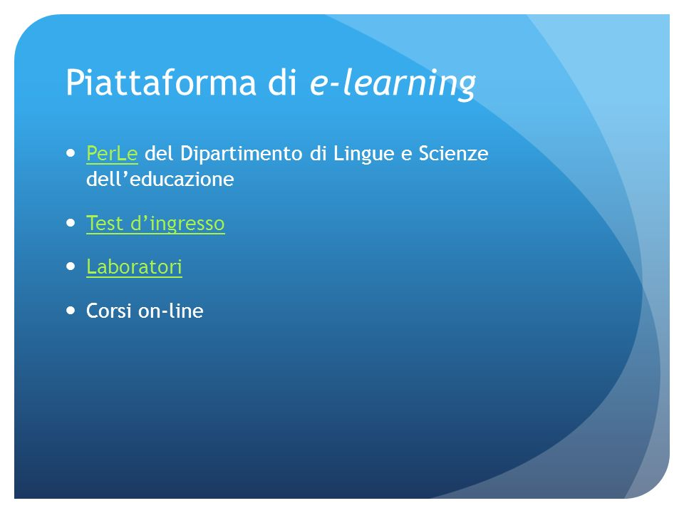Piattaforma di e-learning