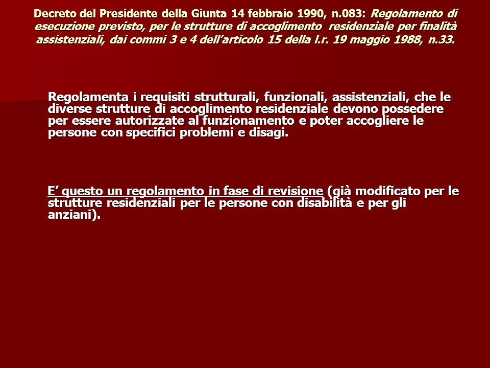 Decreto del Presidente della Giunta 14 febbraio 1990, n