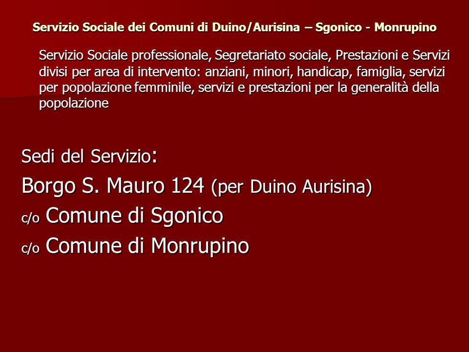 Servizio Sociale dei Comuni di Duino/Aurisina – Sgonico - Monrupino