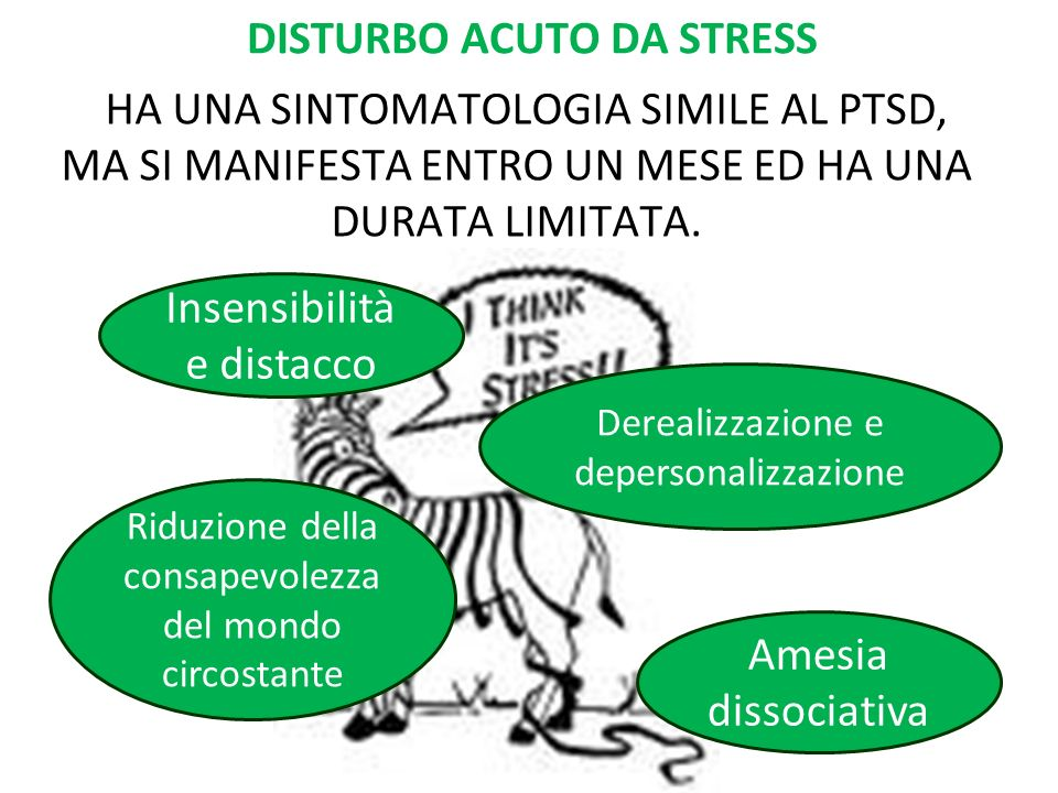 DISTURBO ACUTO DA STRESS