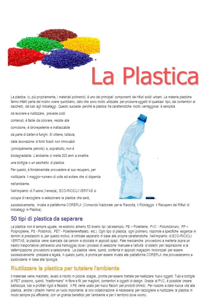 La Plastica 50 tipi di plastica da separare