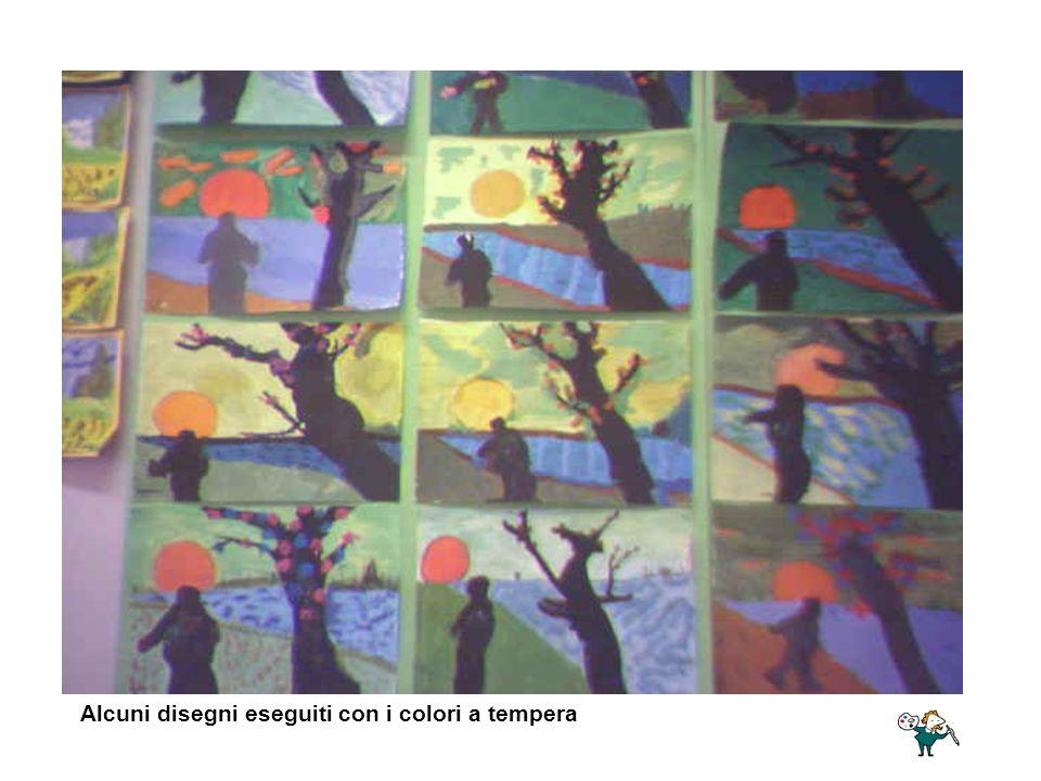 Alcuni disegni eseguiti con i colori a tempera