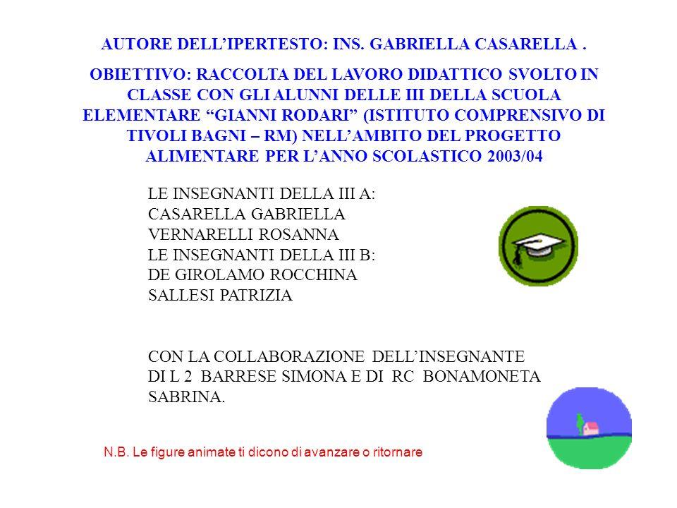 AUTORE DELL'IPERTESTO: INS. GABRIELLA CASARELLA .