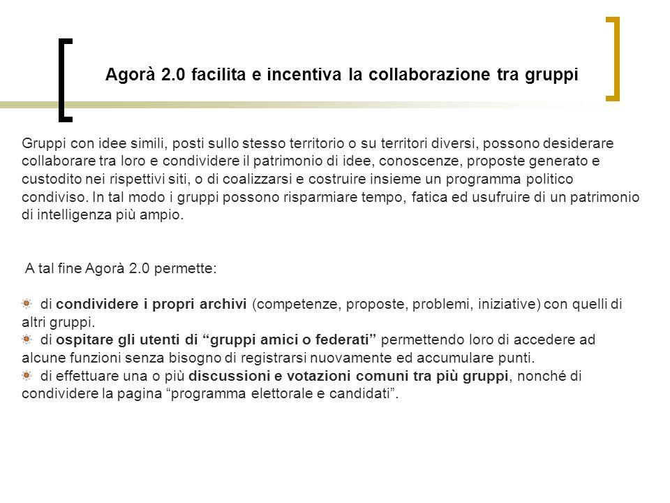 Agorà 2.0 facilita e incentiva la collaborazione tra gruppi