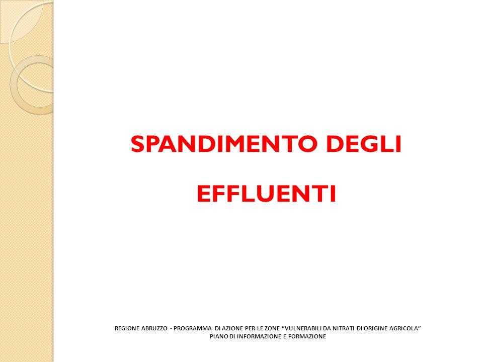 SPANDIMENTO DEGLI EFFLUENTI